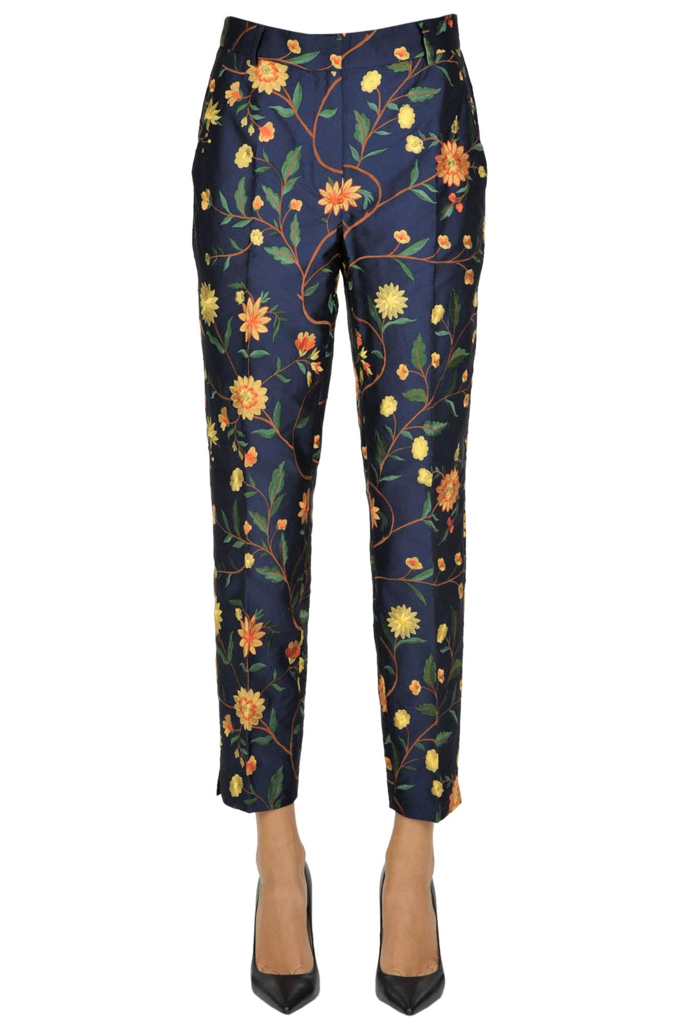 Image of Pantaloni in tessuto jacquard