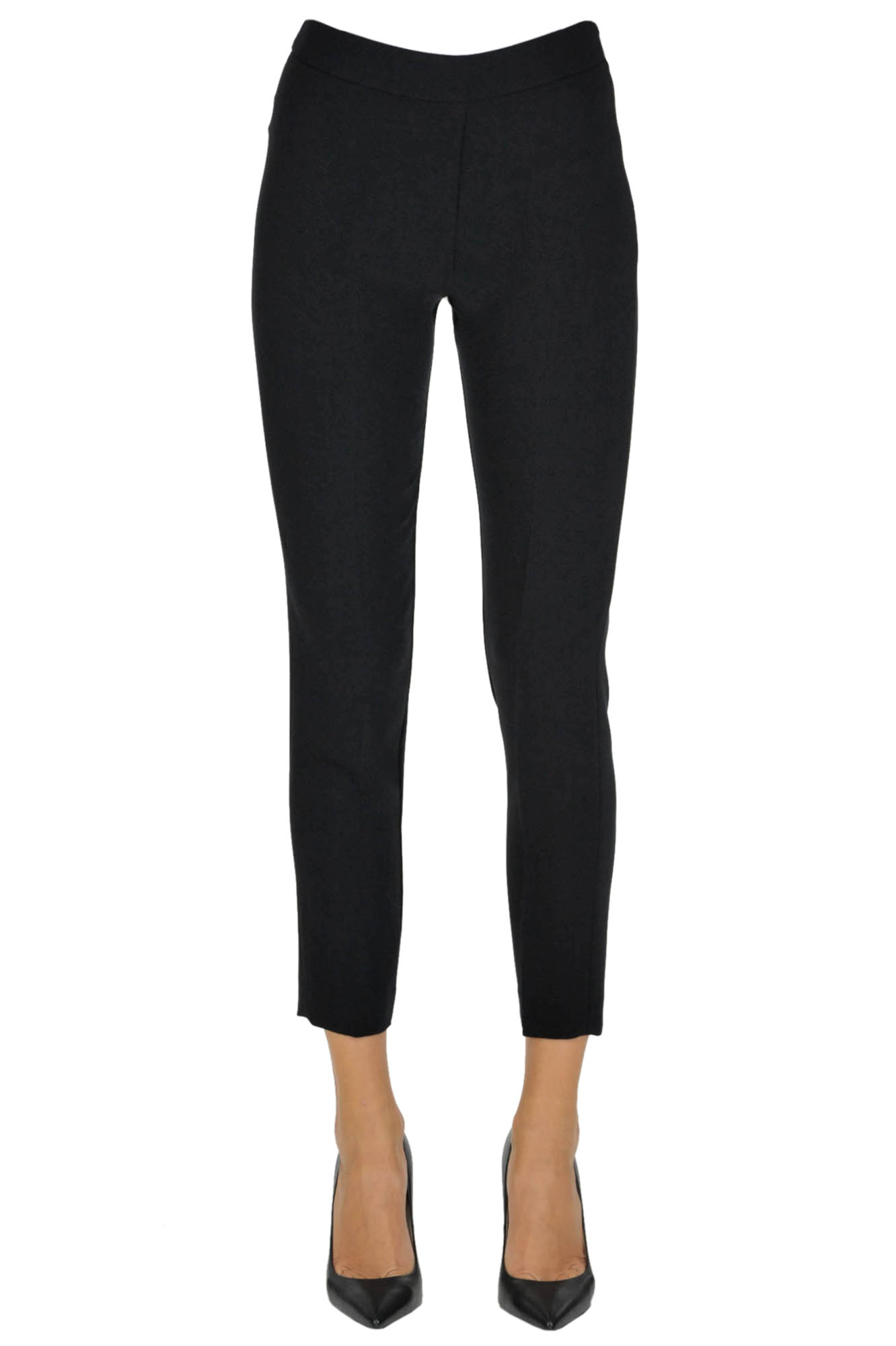 Image of Pantaloni skinny in crepe