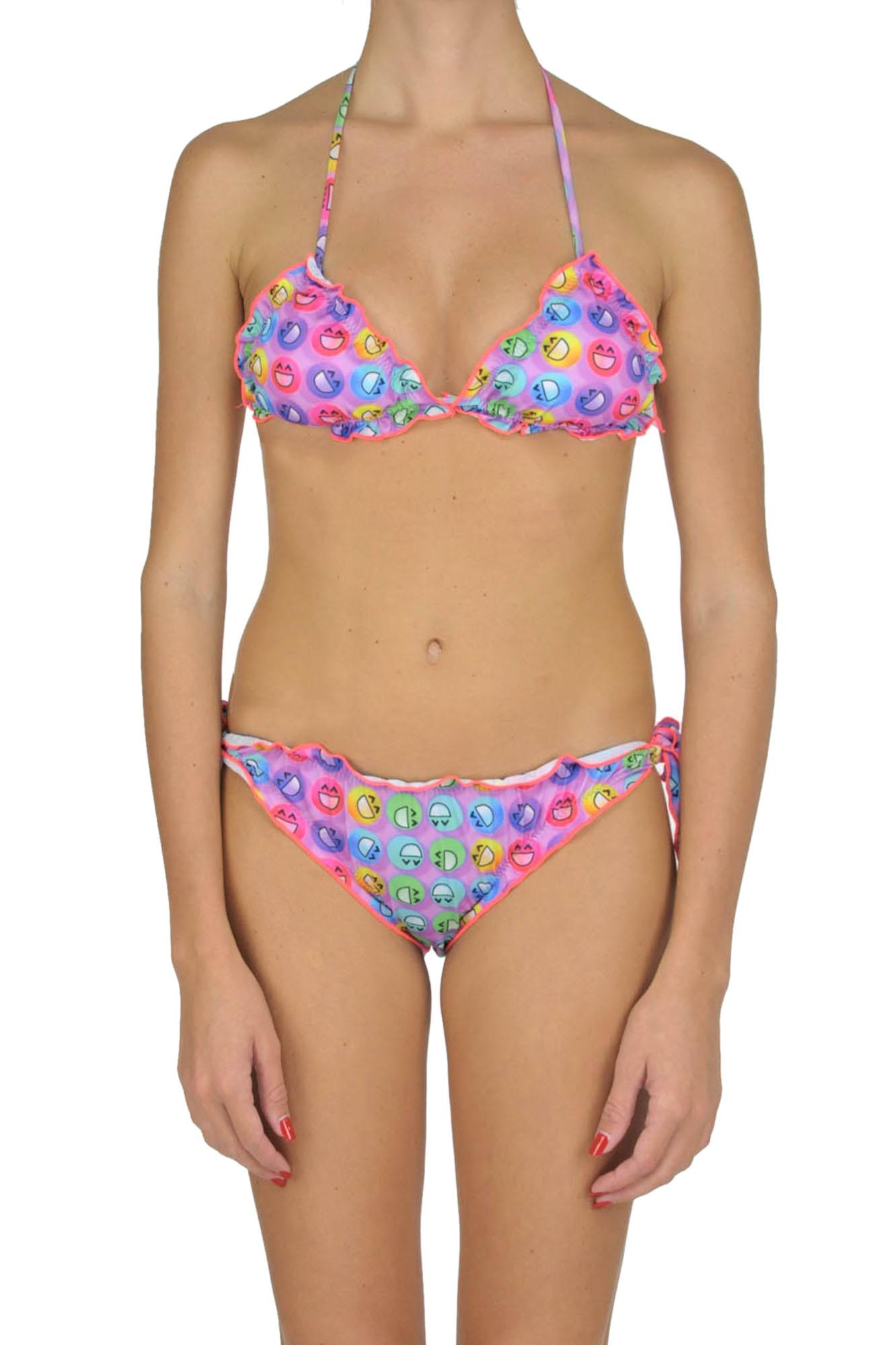Image of Bikini a triangolo multicolore