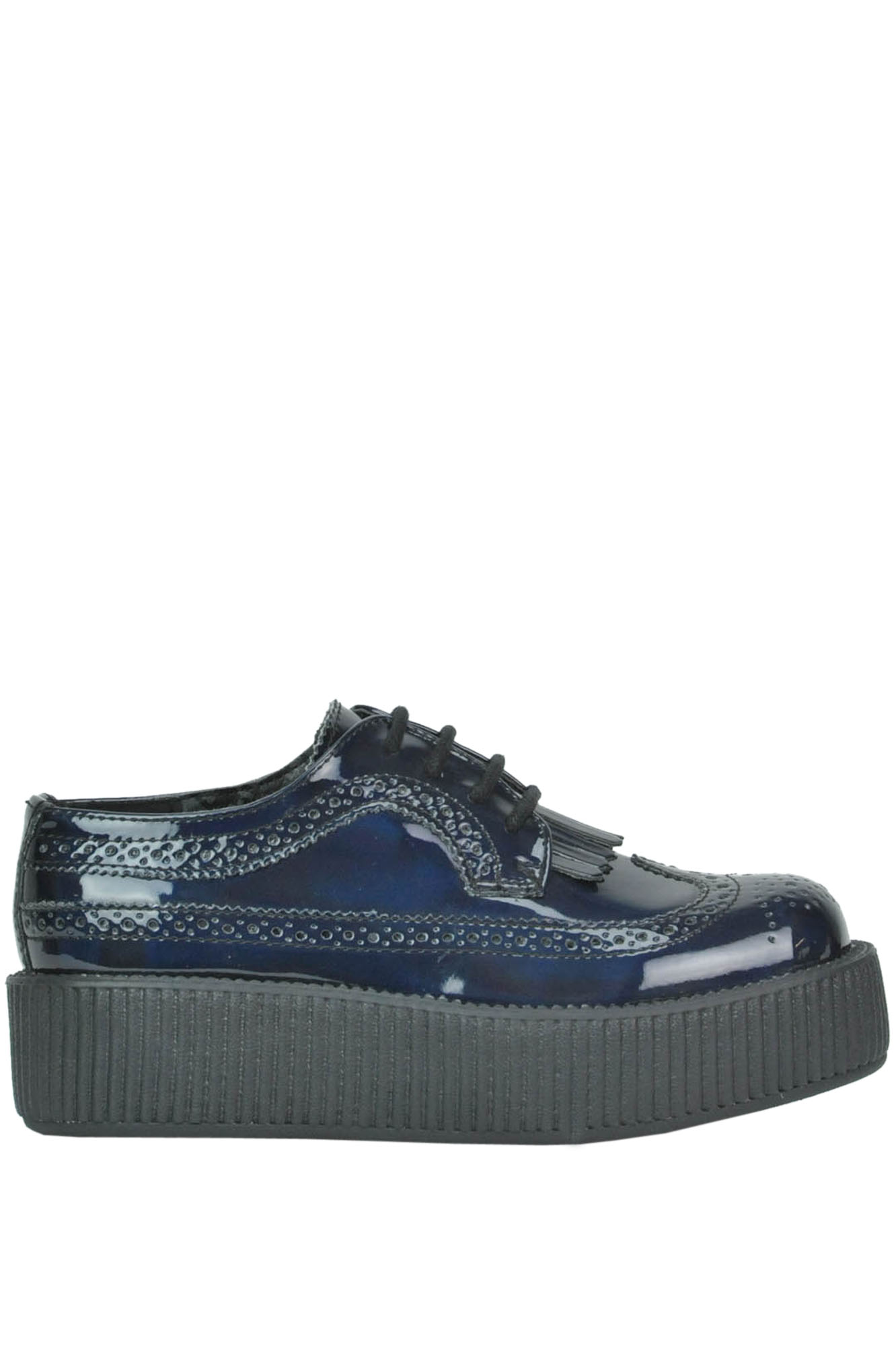 Image of Scarpe creepers in eco-vernice iridescente