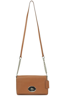 Mini leather crossbody bag Coach