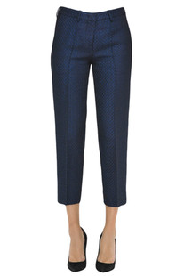 Textured cloth cropped trousers Love Moschino