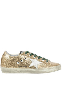 Superstar glittered leather sneakers Golden Goose