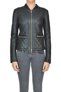 Quilted eco-leather jacket Twin-set Jeans