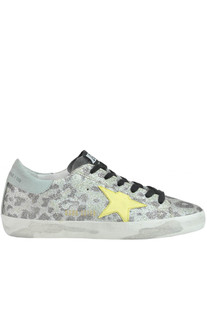 Superstar glittered animal print sneakers Golden Goose Deluxe Brand