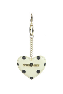 Eco-leather heart keychain Twin-set  Simona Barbieri