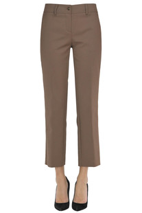 Cotton-blend Capri style trousers Ninette