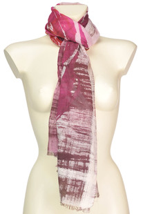 Printed cotton and silk scarf Fulvio Luparia