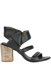 Textured leather sandals A.S. 98