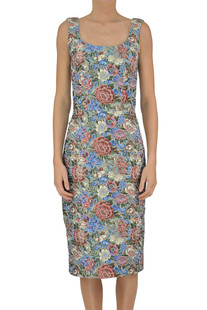Brocade cloth sheath dress Ermanno Scervino