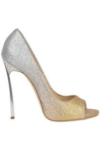 Pegasus glittered leather pumps Casadei