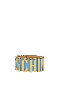 Designer logo leather bracelet Moschino Couture