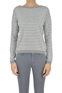 Striped viscose-blend pullover Aragona