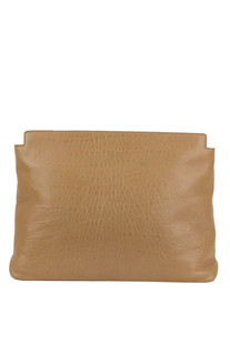 Textured leather maxi clutch Rochas