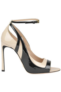 Patent-leather open-toe pumps Sebastian