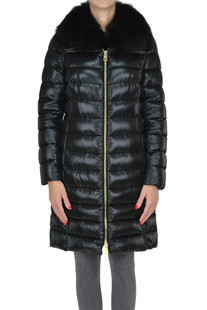 Quilted fur collar down-jacket Herno