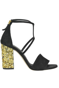 Embellished suede sandals Giancarlo Paoli