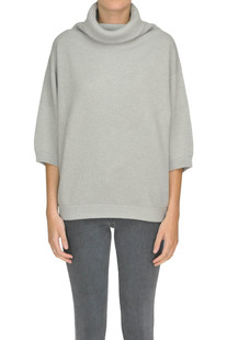 Ribbed knit turtleneck pullover Brunello Cucinelli