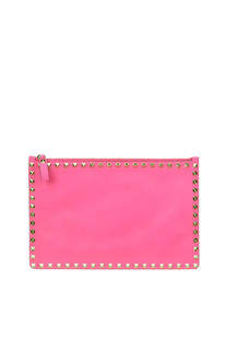 Rockstud leather clutch Valentino