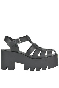 Fluffy leather sandals Windsor Smith
