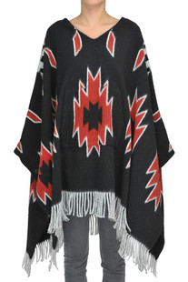 Poncho style pullover Happiness