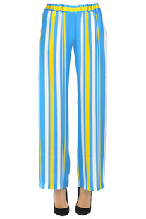 Striped wide leg trousers Twin Set Beachwear