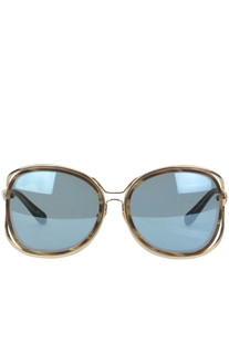 Metal and acetate oversize sunglasses  LFL166C14 Linda Farrow