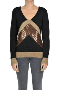 Sequined pullover Space Style Concept