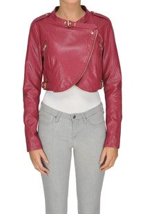Eco-leather cropped jacket Twin-set Jeans