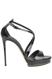 Tiffany patent-leather sandals Casadei