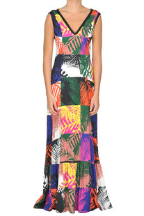 Printed long dress Andrea Incontri