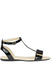 Patent-leather flat sandals Hogan