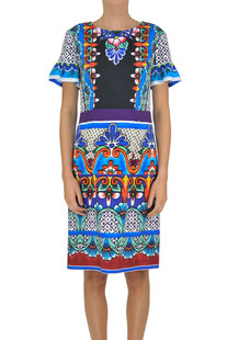Printed sheath dress Alberta Ferretti