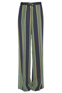 Striped satin trousers Dries Van Noten