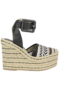Evita textured cloth wedge sandals Palomitas by Paloma Barcelò