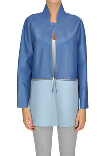 Two-coloured leather coat Ermanno Scervino