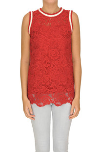Macrame lace top Ermanno Scervino