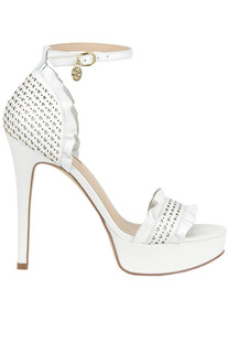 Cut-out leather sandals Guess