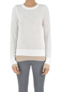 Embroidered knit pullover Patrizia Pepe