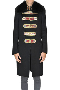Embellished wool and angora wool coat Ermanno Scervino