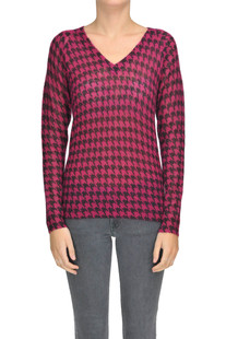 Hound's-tooth print pullover Michael Michael Kors