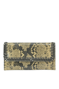 Continental flap reptile print eco-leather wallet Stella McCartney