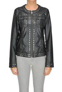 Studded eco-leather jacket Twin-set Jeans
