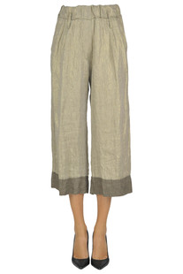 Cropped linen trousers Brand Unique
