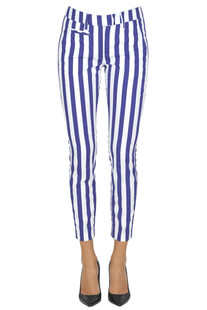 Perfect striped cotton trousers Dondup