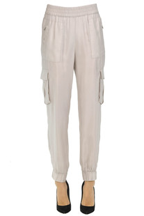 Cargo style cupro trousers Peserico