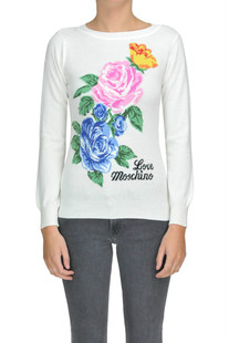 Flower print pullover Love Moschino