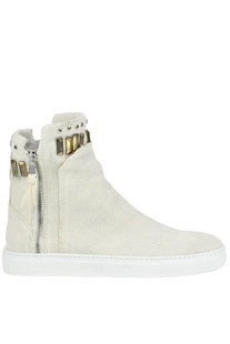Canvas high-top sneakers O.M.
