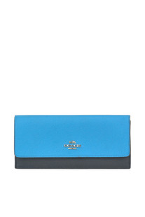 Two coloured saffiano leather wallet Coach