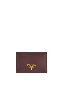 Saffiano leather card holder Prada